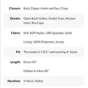 PromGirl Dresses - Long Deep-V-Neck Halter Formal Dress